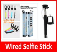 iphone 5s selbstbewusstsein großhandel-Kamera Stative Einbeinstative Z07-5S 5plus z07-5 plus Wired Control Einbeinstativ Erweiterbar Handheld Selfie Stick Clip Halter für iPhone Samsung