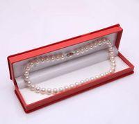 Wholesale Beautiful Necklace Boxes - Wholesale beautiful pearl necklace Jewelry Boxes Rectangular plus velvet natural pearl necklace jewelry box xlhz001