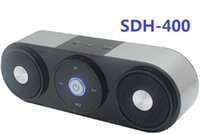 Wholesale Button Phones - 2016 Mini Bluetooth Speaker SDH 400 Touch Button Speaker Subwoofers Super Bass Speaker Support USB TF Card FM For Smart Phones Free DHL