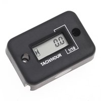 Wholesale Waterproof Tach Hour Meter - Hot Sale Universal Waterproof Digital Hour Meter Tachometer RMP Tach Gauge LCD for 4 Stroke Gas Engine Motorcycle ATV Snowmobile
