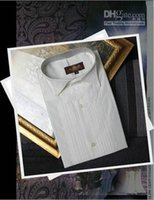 Wholesale Men S Wedding White Shirts - New Style Popular White Groom Shirts Wear Men Wedding Prom Formal Shirt Bridegroom Man Shirt (Size: 37--46 )