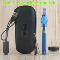 Vape Ego-t Pen Starter Kits Glass Globe Atomizer Wax Dry Herb para Vaporizador Canetas Vaporizadores Kits Zipper Case China Direct