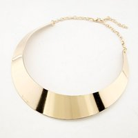 Wholesale Chocker Necklace Chain - Hot Sale New Arrival Gold Plating Punk Style Chocker Necklace Jewelry Collar Necklace