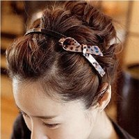 Wholesale Korean Import High End Jewelry - New Korean version of South Korean imports of genuine high-end jewelry brimmed leopard head toothed bow hair accessories hair band headband