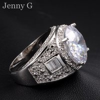 Gros-Jenny G Bijoux Taille 9, 10,11 Big White Sapphire 18K Gold Filled Diamonique Alliance for Men