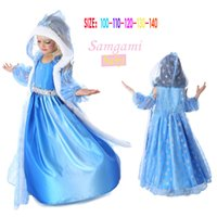 Wholesale Girl Party Dres - Dresses baby girls dresses Snowflakes sequined dres Elsa Anna Christmas Princess Dress Children Baby Girl Party princess