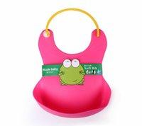 Wholesale Bib Plastic Pockets - 2015 HOT Baby Bib Bib waterproof pocket plastic stereo leakproof baby rice bag