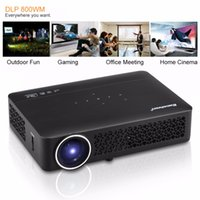 Al por mayor- Excelvan DLP800WM Projector Android 4.4 400ANSI Lumens WIFI / Bluetooth / 3D / Miracast / USB / SD / RJ45 / VGA / HDMI / AV Proyector HD Theater