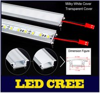 10X novo 8W 5630 LED Bar U Groove Light 50CM Não impermeável 72LEDs / M LED Rigid Strip DC 12V 5630 LED Tube Strip LED