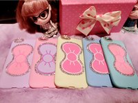 Wholesale Iphone Cases Bows - Bow Rhinestone Shockproof For Cell Phone Case Cover SKin With Stand Holder Phone Accessory For Apple iPhone Series
