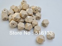 Wholesale Wood Beads 16mm - Wholesale-Free shipping! 10mm 12mm 14mm 16mm natural unfinished geometric wood spacer beads jewelry  DIY wooden necklace