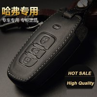 Wholesale Great Wall Hover Car - New Genuine leather remote key fob shell car key cover case for Great Wall Haval Hover H1 H3 H5 H8 H9 H6