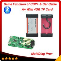 2015 New Arrival Multidiag pro + bluetooth com 4GB TF card = tcs CDP + com cabos de carro 2014.2 versão Multi-language Auto ferramenta de diagnóstico
