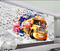 Wholesale Pig Wallpapers - Custom 3d mural wallpaper TV backdrop Pig cartoon balloons 3d photo wallpaper 20156009