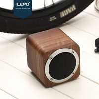 Wholesale Hifi Music Speaker - New Arrival iLEPO i7 Wooden HiFi Bluetooth Speaker Subwoofer Wireless Mini Speakers Music Box Portable Stereo Better Charge 3 Bluedio