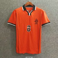 Wholesale Holland Clothes - Classic 1998 world cup Netherlands retro soccer jerseys holland football shirts soccer clothing custom name number BERGKAMP 8 top aaa quaity
