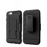 Wholesale Iphone Waterproof Case Clip - Armor Holster Case Waterproof Dirt-resistant Clip Cases Black Back Covers With Button Slots For iPhone 5 6 6Plus DHL Free SCA058