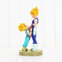 Wholesale Dragonball Z Trunks - 20cm Dragonball Vegeta Trunks father with son Goku PVC Action Figures DRAMATIC SHOWCASE Dragon Ball Z Model Toy