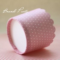 Cupcake Wrappers Muffin Baking Cups Cake Wrapper Cupcake Liners Little White Dots Pink High Temperature Greaseproof Paper