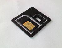 Wholesale Microsim Sim Nano - Wholesale-50pcs lot High quality 2 in 1 Nano SIM to Micro Standard SIM MICROSIM Adaptor Adapter for Apple for iPhone 4 4s 5 5g 5th
