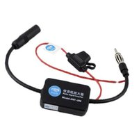 Wholesale 12v Car Antenna - S5Q Car Antenna Signal Amplifier Suitable For All Radio Frequencies In 87.5-108Mhz AAAFUQ