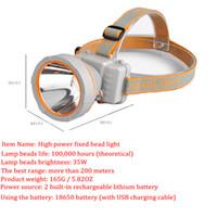 ingrosso nuove luci di testa led q5-Faro LED 35W Outdoor Impermeabile Ricaricabile Long Range Probe Miner's Lamp Caccia Pesca Escursionismo Lettura FAI DA TE