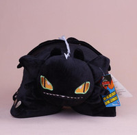 Wholesale Toothless Dragon Puppet Toy - 33CM Anime Cartoon How to Train Your Dragon Toothless Night Fury Pillow Plush Cushion Soft Stuffed Animal Doll Toy