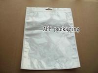 cep telefonu aksesuarları ambalaj torbalar toptan satış-20 * 27 cm beyaz fermuar Plastik Perakende ambalaj paketi kılıfı çanta için cep telefonu aksesuarları iPad mini 2 3 Giysi hediyeler