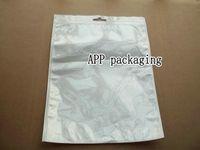 bolsas de accesorios ipad al por mayor-20 * 27 cm blanco con cremallera Paquete de empaquetado al por menor de plástico Bolsa para accesorios de teléfonos móviles iPad mini 2 3 Ropa Regalos