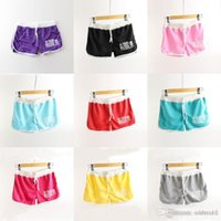 Wholesale Sportswear For Thin Women - 2015 new Candy colors Shorts Thin casual sports shorts for women girls Beach Shorts Sportswear clothes 2015 spring summer hot 190090