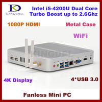 Wholesale Kingdel Thin Client Mini Computer HTPC Intel i5 U Dual Core GB RAM GB SSD USB WiFi HDMI K supported