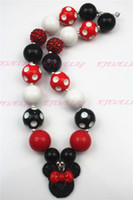 Wholesale Red Knot Necklace - Red Knot Mickey Necklace Girls Chunky , Girls Bubblegum Chunky CB076(3)