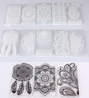 Wholesale Iphone 4s Hard Covers - Henna White Floral Paisley Flower Mandala Plastic Hard PC Case Cover For Apple iPhone 4 4S 5 5S 5C 6 4.7   Plus 5.5 iPhone6 6+ Samsung S6 I2