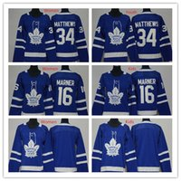 Wholesale Womens 16 - 2018 2017 Kids Womens Toronto Maple Leafs Jersey Blue Youth 34 Auston Matthews 16 Mitch Marner Jersey Ladies Matthews Boys Marner Jerseys