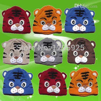 Wholesale Kids Tiger Bonnet - 1pcs Baby Girls Boys Kids Toddlers Crochet Knit Cute Tiger Hat Cap Beanie Bonnet