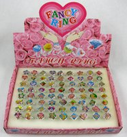 Wholesale Wholesale Plastic Jewlery - FREE Wholesale Lots 72 Pcs Cartoon Strawberry Shortcake Plastic Children Kid Ring jewlery