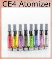 Wholesale Ego Ce4 Tanks - CE4 Atomizer 1.6ml Electronic Cigarette CE4 Cleaomizer vapore tank e-cig 8 colors 510 thread for ego evod battery AT010