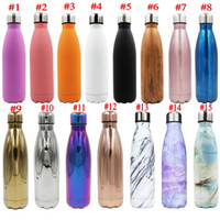 Wholesale bicycle double - 17oz 500ml Cola Bottle Mug Insulated Double Wall Vacuum High-luminance Water Bottle Creative Thermos Bowling Cup