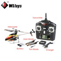 Wholesale battery toy helicopter - Wholesale-Free shipping WL Toys V911 2.4G 4CH Single Blade Gyro RC MINI Outdoor Helicopter With LCD and 2 Batteries,dropship