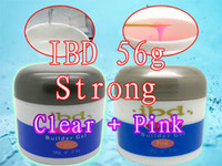 Wholesale Ibd Pink - High Quality! Made in 2017! Special Offer! Original New Pink + Clear 2 pcs Strong IBD UV Builder Gel Nail Art 2oz   56g