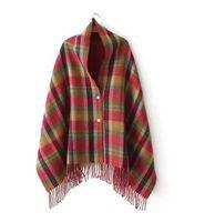Wholesale cozy wrap blanket - .Christmas Party Price Lady Blanket Oversized Tartan Scarf Wrap Shawl Plaid Cozy Checked Pashmina corlorful autumn winter scarves WJ23