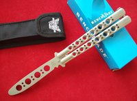 Wholesale Butterfly Nylon - Benchmade 42 BM40 Balisong Butterfly Knife Trainer 40TR 440C stainless steel skeletonized frame style with nylon sheath and retail box