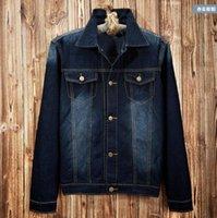 Wholesale Cool Jacket Designs - Winter Cool Mens Hooded Denim Jacket Cotton Slim Fit Motorcycle Coat Vintage Design Cowboy Jeans Tracksuit Clothing Size M-XXXL