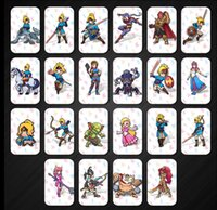 Wholesale toy links resale online - Games Toys Set Card NFC tag card Breath Wild heart wolf link Fierce deity figures gifts
