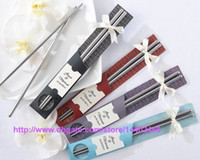 100Pairs=200pcs East Meets West Stainless steel chopsticks Chinese style wedding Wedding   Function favors gifts DHL FEDEX Free shipping