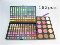 Wholesale Eyeshadow Palette 168 Color - 1pcs 183 Colors Makeup Palette 168 Color Matte Eyeshadow Palette & 9 Colors Blsuh & 6 Colors Bronzers Highlighter