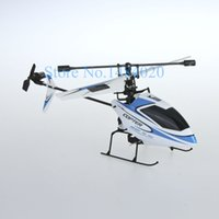 Wholesale Mini V911 Upgrades - Wholesale-High Quality Upgrade metal aluminum V911 2.4G 4CH RC MINI Helicopter Single Blade Propellor Gyro Mini Radio RC Helicopter BNF