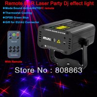 2015 neue große Sterne Muster 200mw Remote MINI Projektor Red Blue Laser Bühnenbeleuchtung dsico Tanz Home Party DJ Light Show d20