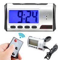 Wholesale Wireless Remote Motion Detector - Mini Hidden Spy Camera Alarm Shape DVR Wireless Remote Camcorder Motion Detector Security Cam Clock Video Recorder 720*480