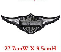Wholesale Chinese Clothing Wholesale Free Shipping - Free shipping embroidery badge 10pcs lot motor rider middle patch iron on jacket back dress decoration accept customized